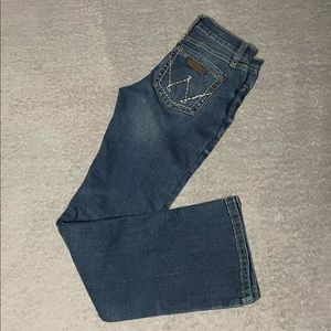 Wrangler bootcut jeans size 14 slim